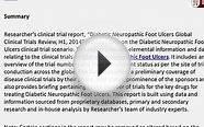 Global Clinical Trials Review Diabetic Neuropathic Foot
